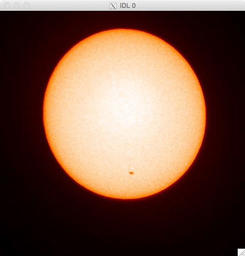 Capture a sunspot with your phone.