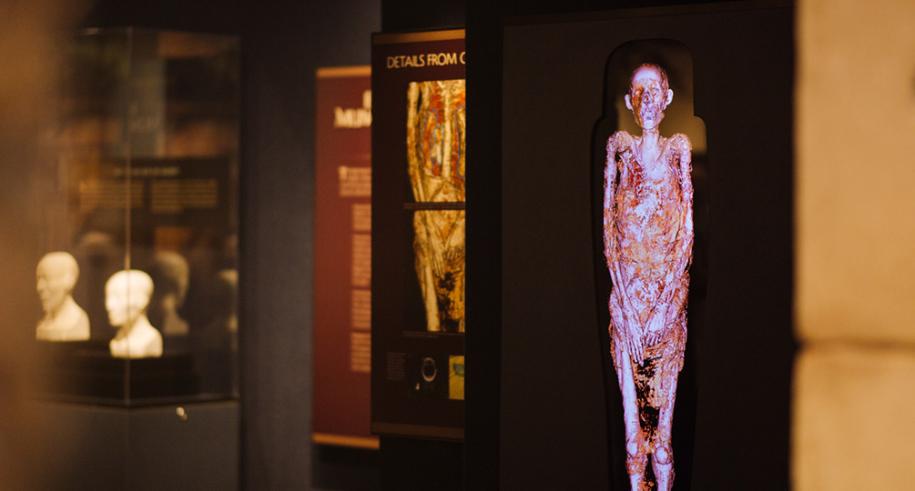 Ideum 4K display lets you examine a mummy more closely
