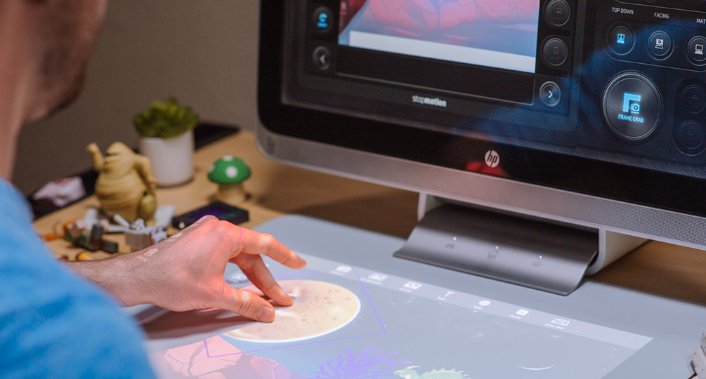 Stop Motion allows user to create animation with HP Sprout