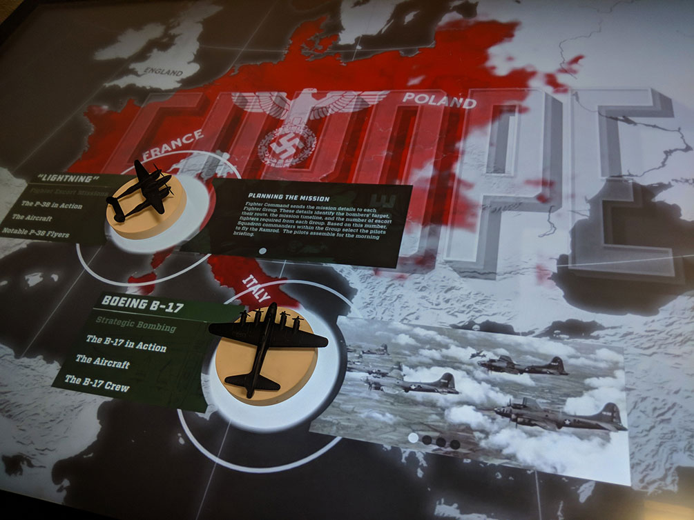 Planes of Fame - World War 2 Touch Table | Ideum