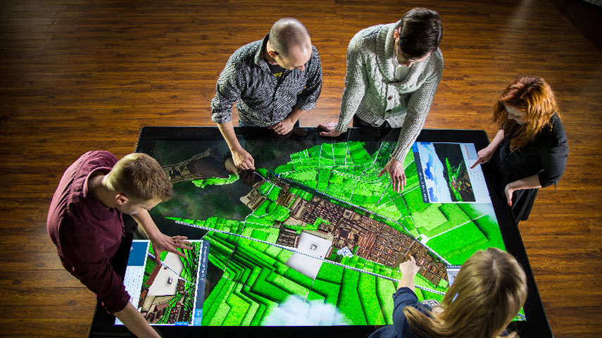 Colossus Multitouch Table With Inch K UHD Touch Screen - Multitouch coffee table