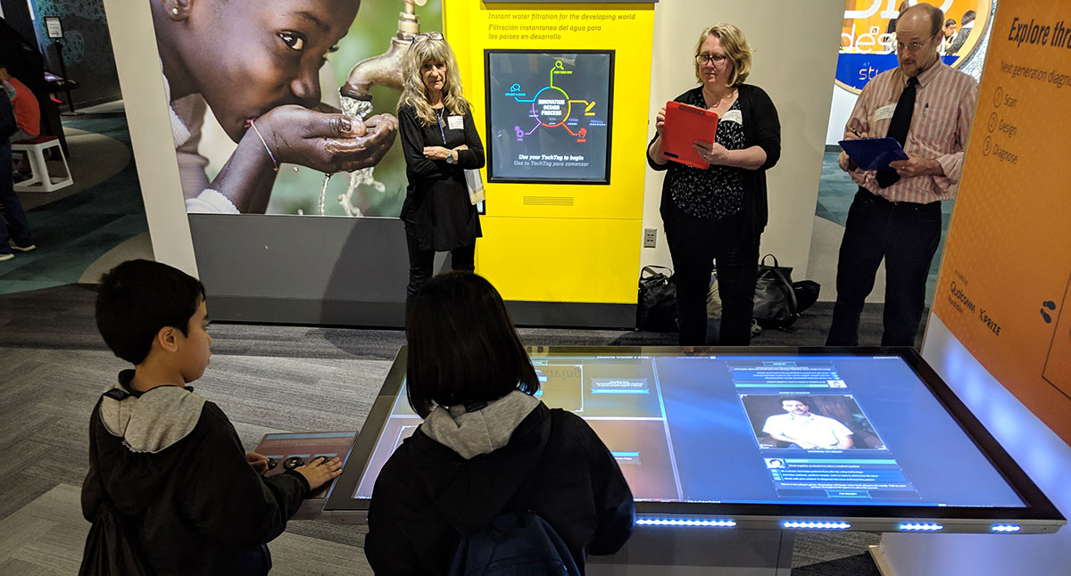 Onsite Evaluation of XPRIZE Exhibits at San Jose's Tech Museum