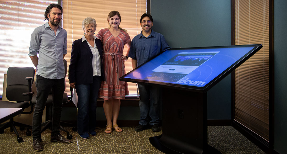 Ideum Donates Multitouch Drafting Table to Sandoval Economic Alliance