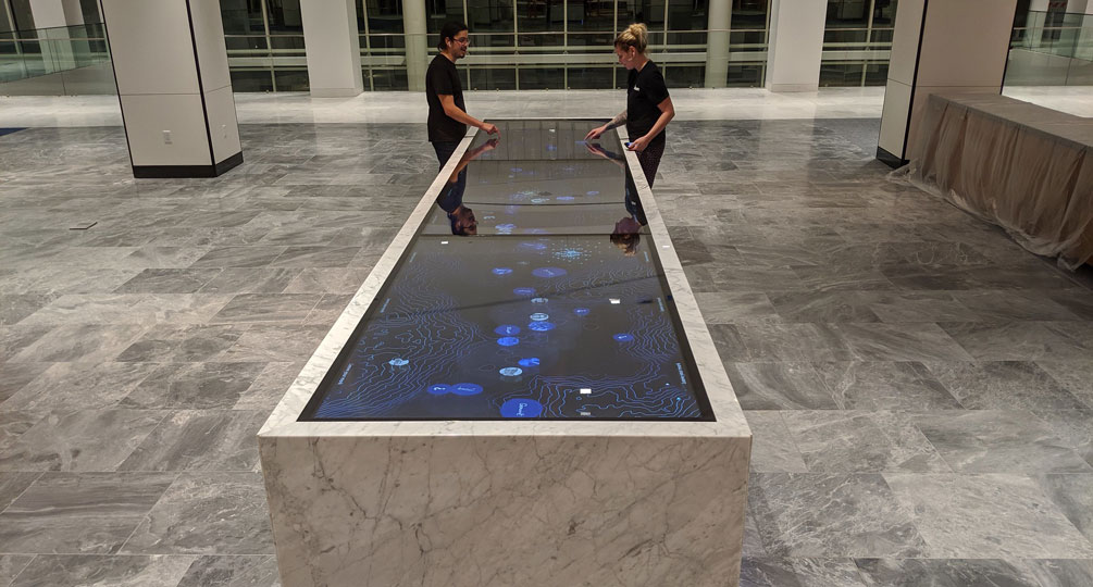 Ideum Builds Massive Multi-Display Marble Touch Table