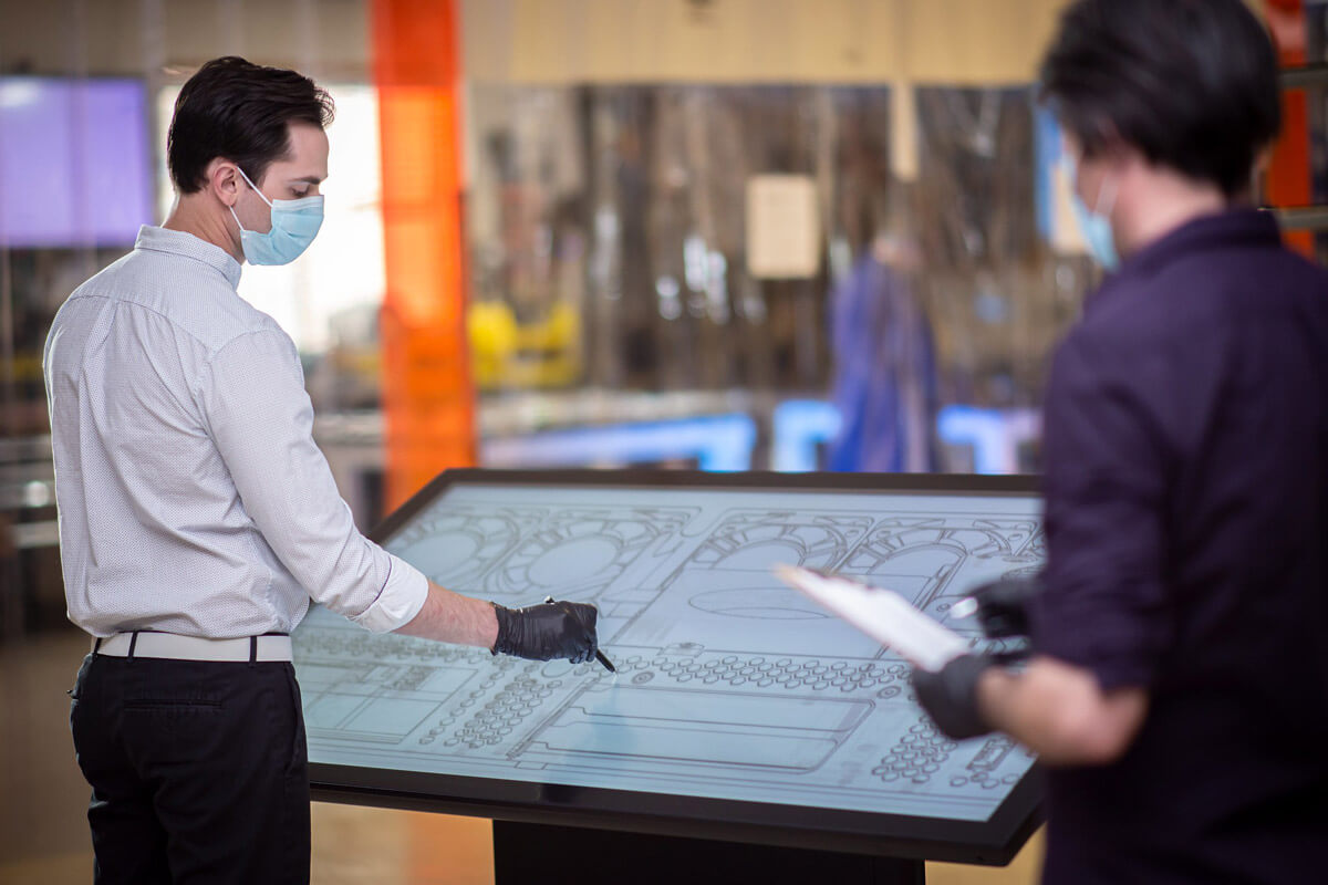 Simple and Safer Ways to Interact with Touch Tables and Displays