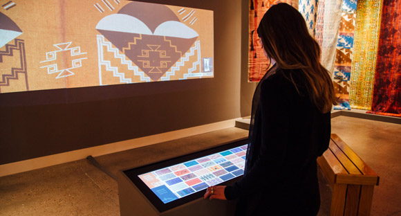Ideum collaborated with the Institute of American Indian Art and the Museum of Contemporary Native Art in Santa Fe on this exhibit where guests can explore traditional textile designs.